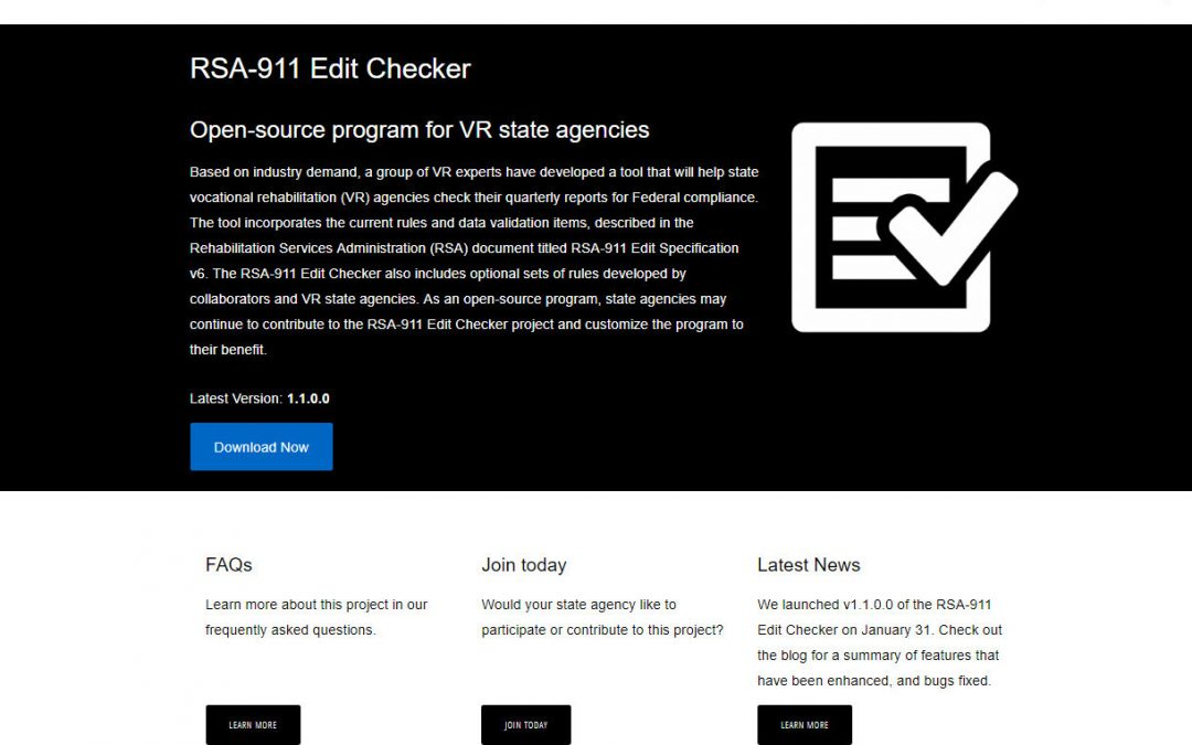 Alliance Enterprises Announces Plan to Launch a WIOA Edit Checker for RSA-911 Reports